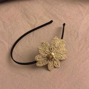 Gold Flower Jewel Headband